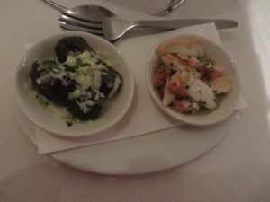 Dolmades and Pickled Octopus